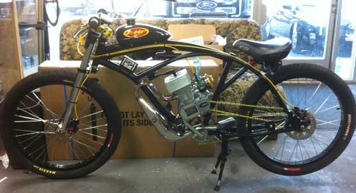 Motorized Race Bicycle